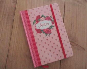 "A5 Notebook ""pink flowers"""