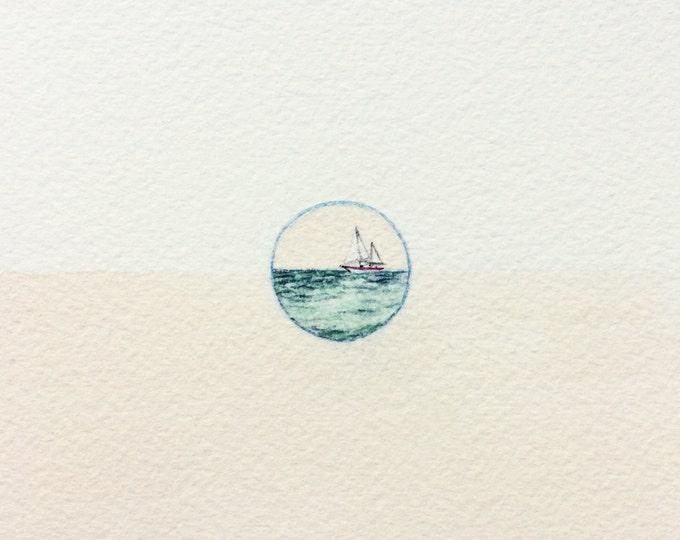 Evanescere / original tiny art on paper