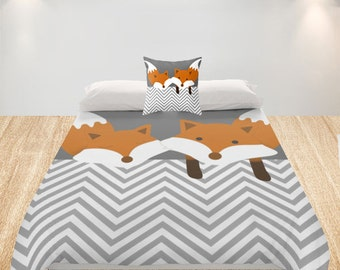 Fox Duvet Cover Etsy