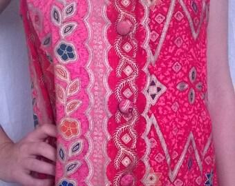 Vintage dress in printed cotton