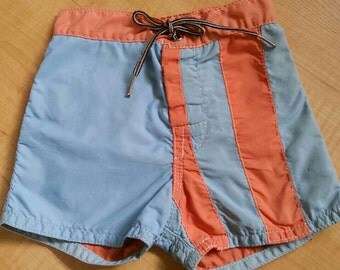 Vintage Infant birdwell britches beach shorts-vintage toddler shorts-vintage beach surf shorts
