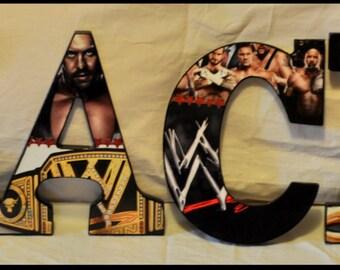 WWE Wood Letters