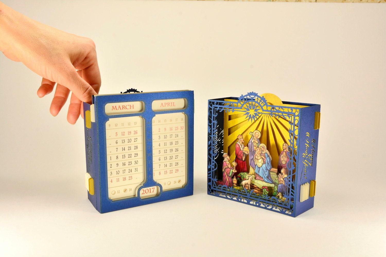 Promo Gift Christmas Calendar 3d Card Company Gift