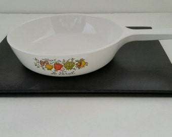 Corning Ware Small Fry Pan, Vintage P 83 B, Le Persil 6.5 inches