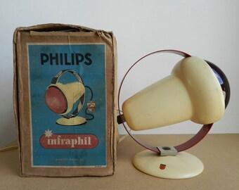 Lampe Infraphil par Charlotte Perriand pour Philips Années 50