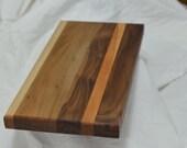 Handmade Solid Wood Cutting Board ~ Cherry, Walnut and Hard Maple Butcher Block ~ Chopping Board