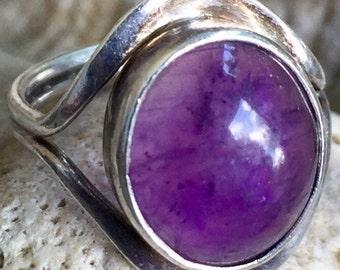 Vintage Sterling Amethyst Pinky/Midi Ring