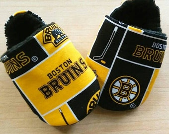 Boston Bruins inspired Baby Shoes