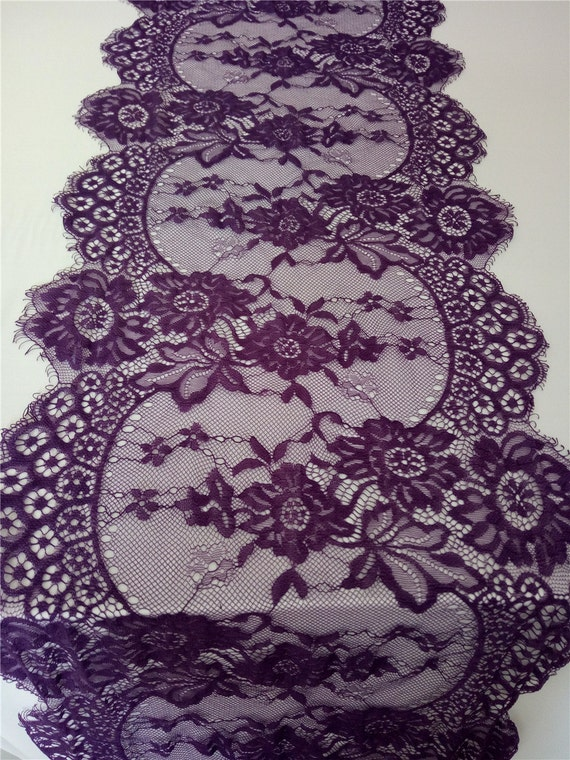 Dark Purple Lace Table Runner 12 Purple Table