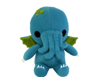 Cthulhu Plush Toy, Stuffed Monster, Cthulhu Stuffed Toy, Cthulhu Monster, Sea Monster, Fhtagn Pattern, Plush Cthulhu Toy, Cthulhu Toy