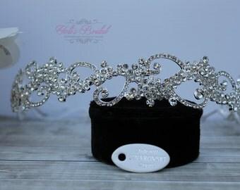 Swarovski Headband, Headband, Crysta Headband, Wedding Headband, Tiara ,Crystal Tiara , Wedding Headpiece, Bridal Headpiece, Bridal Headband