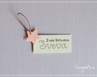MINI TAG for christening Sveva