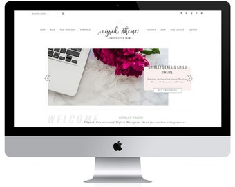 Feminine Portfolio and eCommerce Genesis Child Theme / Wordpress Theme / Woocommerce Theme / Ingrid Theme / Photography Theme / Pink blush