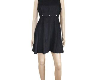 Versace Jean Couture Vintage Little Black Velour Dress