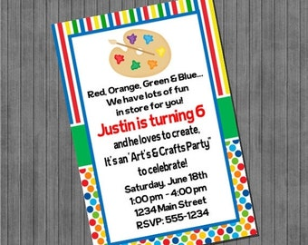 65% OFF SALE Arts and Craft Party Invitations