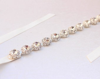 Thin Bridesmaid belt  bridesmaid sash Crystal rhinestone belt bridal belt Bridal headband  beaded belt for wedding dress  holiday gift