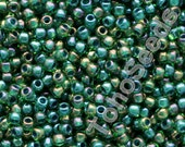 10g Toho Seeds Beads 11/0 Inside Color Luster Peridot Green Emerald Lined AB TR-11-249 Rocailles size 11 green mini rocailles