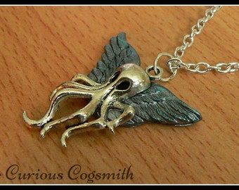 Cthulhu Necklace - Cthulhu Pendant - Kraken Necklace - Kraken Pendant - Cthulhu Jewellery - Kraken Jewellery