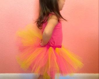 Easter tutu, Spring tutu, Easter baby tutu, Easter toddler tutu, Easter skirt, Pink and yellow tutu, Gift for girls, Baby tutu
