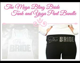 The Bride Tank and Yoga Pants Set. Bride Tank. Bride Yoga Pants. Bride Jacket. Bride Zip Up. Bride Gift. Bridal Shower. Wedding.
