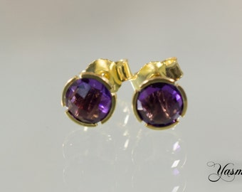 Amethyst gold plated