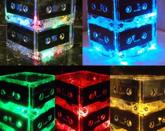 2 Tier Upcycled Cassette Tape Night Light