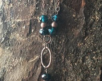 """Bronze """"Y"""" necklace"""