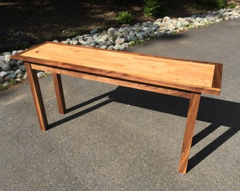 Madrona and Black Walnut Entry Table