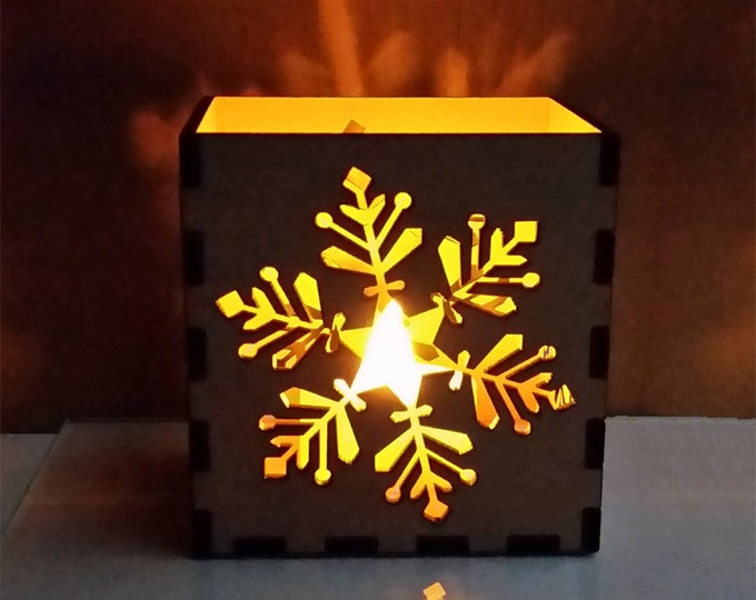 DIY Snowflake Luminary Kit