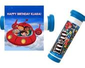 The Little Einstein Digital Mini M&M Tube Wrapper Printable Birthday Party  DIY