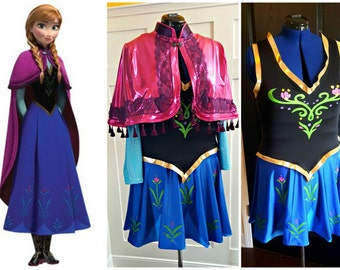 Custom Princess Anna Disney Frozen inspired Running Costume, Halloween, Cosplay