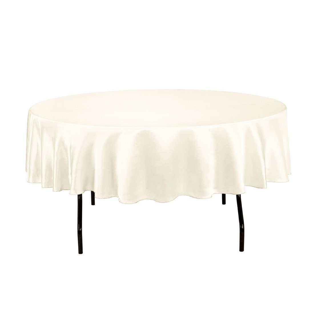 90 Inch Round Ivory Tablecloth Satin Wedding Decorations