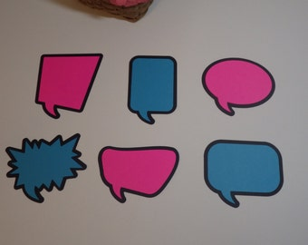 Speech Bubble Die Cuts - Thought Bubble Die Cuts - Word Bubble Die Cuts - Choose your Colors - Display Boards - Scrapbooking VTC-0237