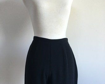80's Black High Waist Trouser