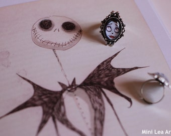 Ring, very limited !! Fanart of the Corpse Bride by Tim Burton