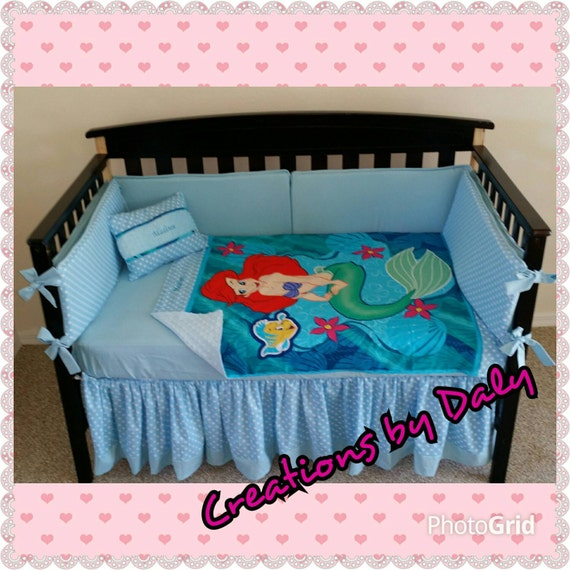 Ariel The Little Mermaid Crib Bedding Set By Creationsbydaly
