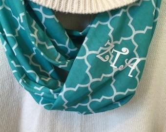 Aqua scarf with ZTA letters