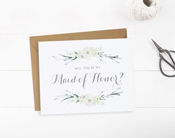 Will you be my Maid of Honor cards, Card to ask Maid of Honour printable, INSTANT DOWNLOAD.