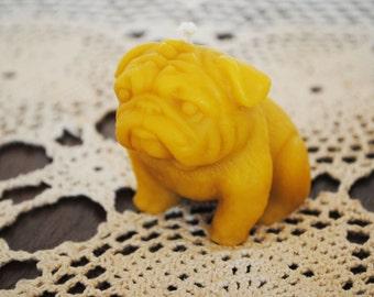 Beeswax Pug dog Candles - Xmas, Christmas Table Centre Piece, dog - Beeswax  Beeswax Candles