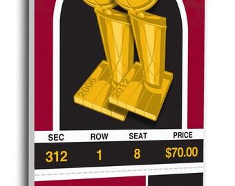 2013 NBA Finals Canvas Commemorative Mega Ticket - Miami Heat