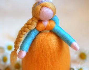 Fairy-Waldorf inspired wool rabbit bet