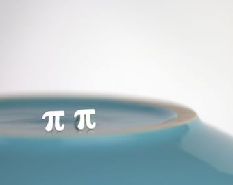 Pi Earrings - Piday Studs - math geek, math nerd, nerd gift