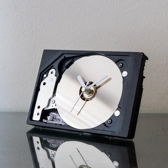Modern Clock - Unique Gift - Boyfriend GiftHard Drive Clock - Industrial Clock - Unique Desk Clock - Geek Gift - Computer Clock -