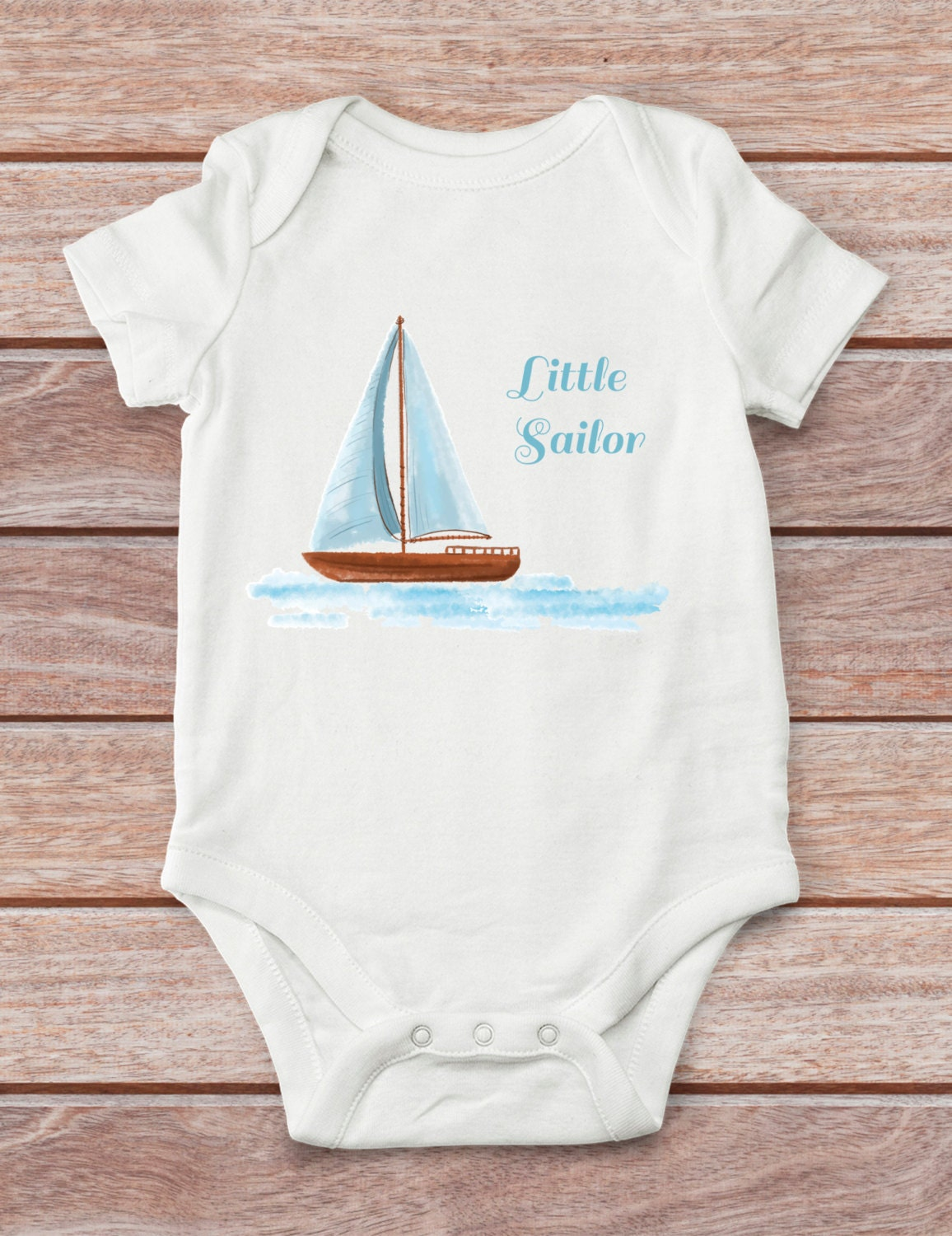 Little sailor bodysuit baby shower gift nautical boy