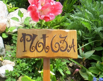 Garden Allotment Stake Sign *Personalised Custom made Sign