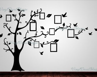 Family Frames Wall Decor family tree wall decal | etsy
