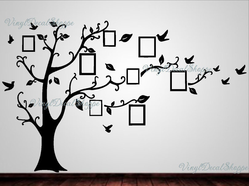Photo Frame Family Tree Decal Wall Decals Wall Decor: Large Family Tree Wall Decal Family Tree Wall Decor Family