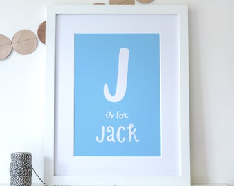 Children's Name Print A3 - Personalised Print - New Baby Gift
