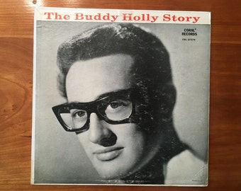 The Buddy Holly Story vintage fifties 50s 1950s LP record peggy sue everyday that'll be the day
