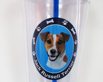 Insulated Double Wall Jack Russell Terrier 16 oz Tumblers